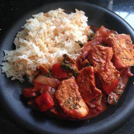 Paprika pork with vegetable ragout. See recipe here: https://kellsslimmingworldadventure.wordpress.com/2015/05/18/recipe-paprika-pork-with-a-vegetable-ragout/