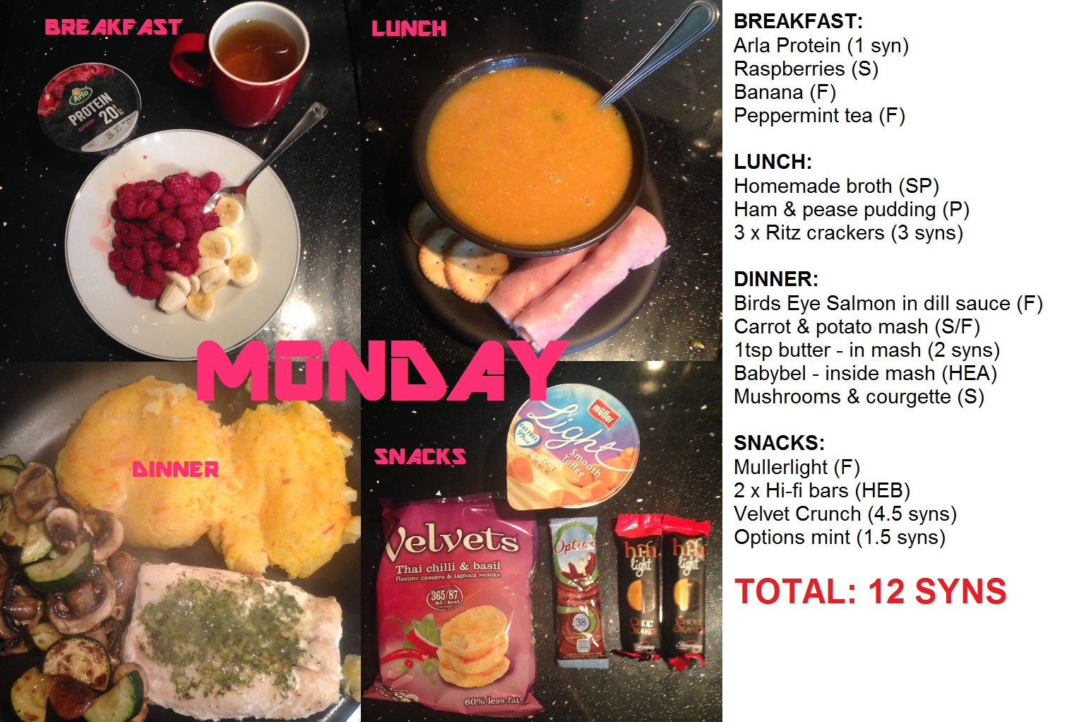 My Menus Over The Past Week Kell 39 S Slimming World Adventure
