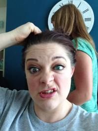 Sometimes I feel like tearing my hair out - LOL!
